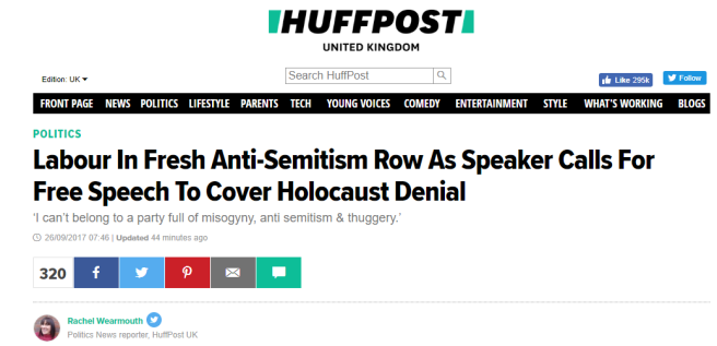 Huffpost Holocaust Denial